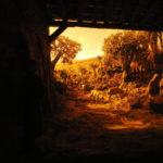 Natività miniatura con tramonto