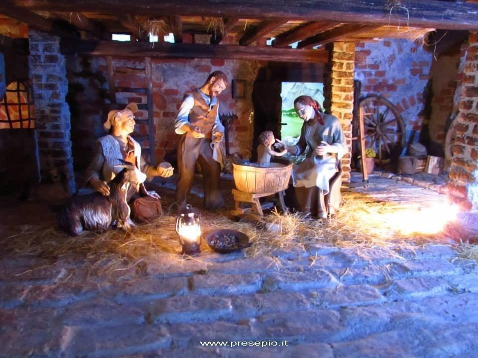 Tresigallo Diorama 2014 ambientato nella stalla dove giocava il papà dell'autore