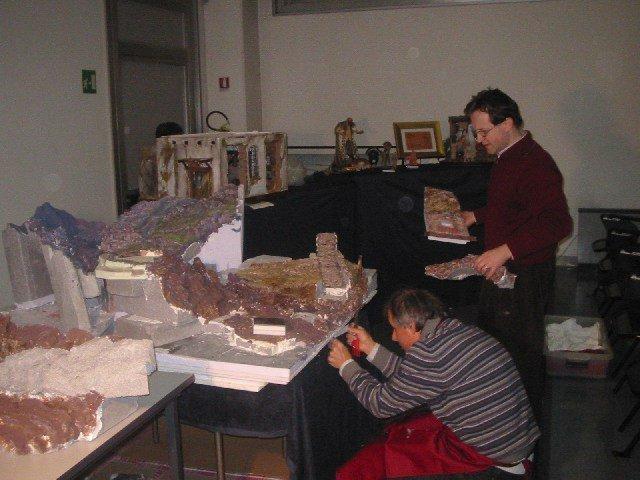 costruzione rocce presepe