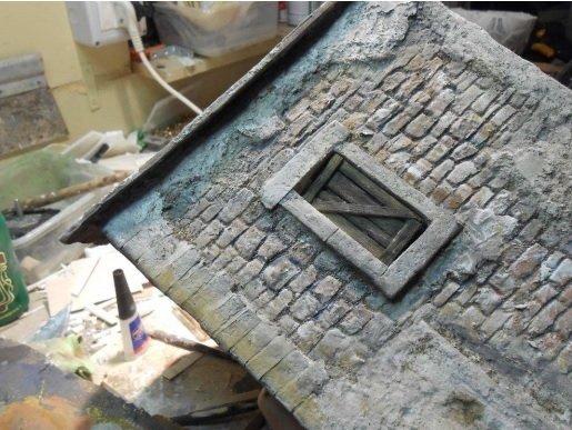 costruzione case per presepi con tecnica mista