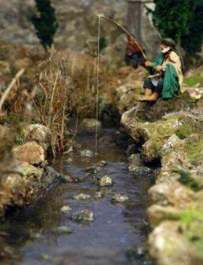 Creare acqua nel presepe videocorsi per diorami e presepi - Letto di un fiume ...