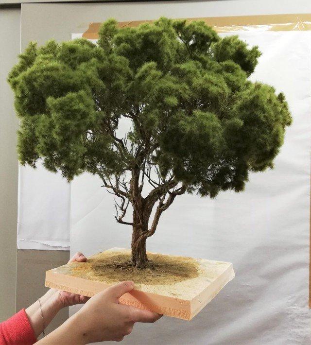 Albero di pino Marittimo presepe diorama 45 cm