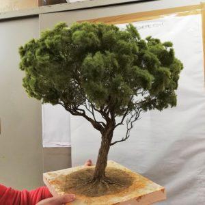 Albero di pino Marittimo presepe diorama 38 cm