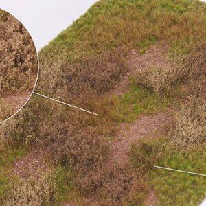 Tapis de herbes électrostatiques et touffes d'herbe Prêt à l'emploi